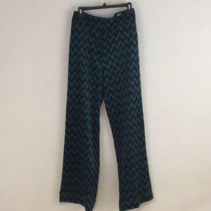 Worthington Teal Black High Waist Trouser Pant